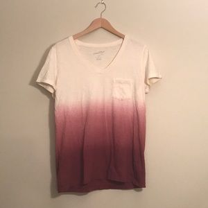 White to pink ombré T-shirt from Old Navy